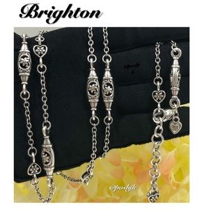 Brighton Long Necklace Silver Oakbrook